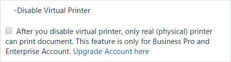disable virtual printer